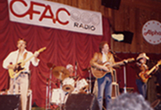 Terry Carisse & TRACKS Calaway Park - Calgary, AB- Oct. 1984 Band: Steve Piticco (lead)       Sam Henry (drums)       Terry Carisse (vocals/guitar)       Dusty King, Jr. (bass)